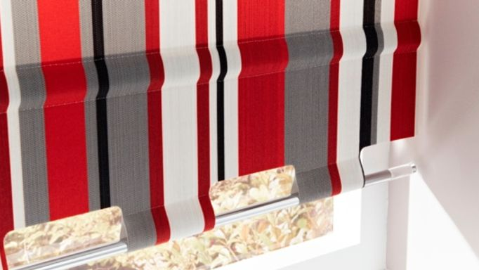Buxton Red Roller blind