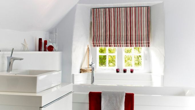 City Cherry Roman blind