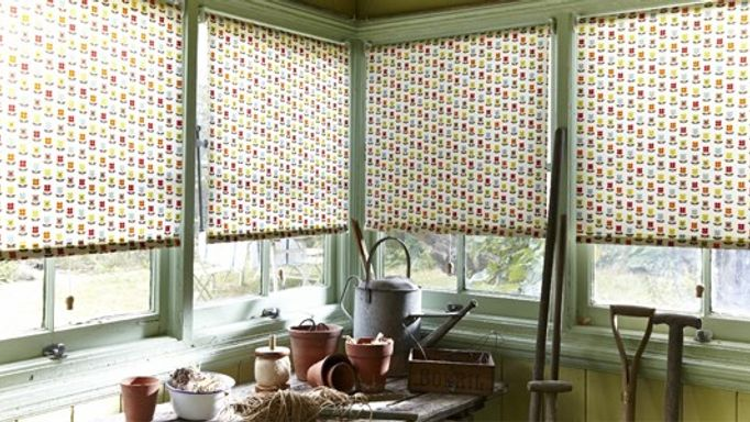 Nelda Fruity Roller Blind in Potting Shed