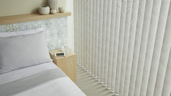Bedroom vertical blinds