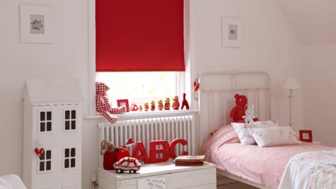 red blackout roller blinds