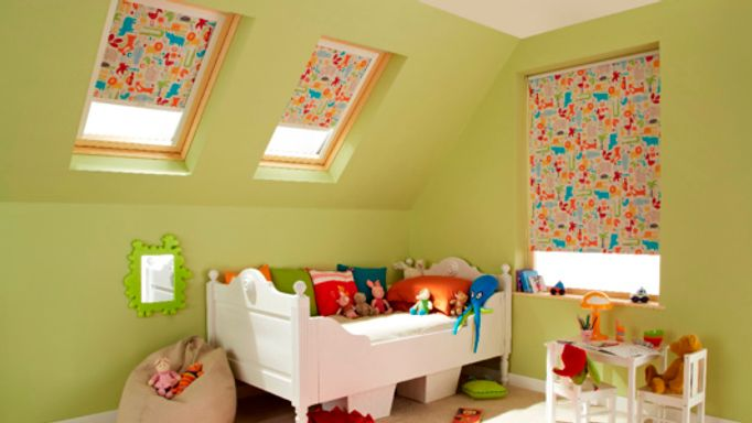 Zoo Animal Patterned Children's Velux blind