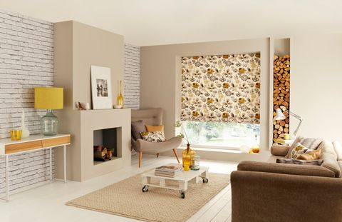 Jewel Amber Roman blind