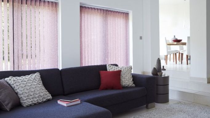 Purple living room Vertical blind