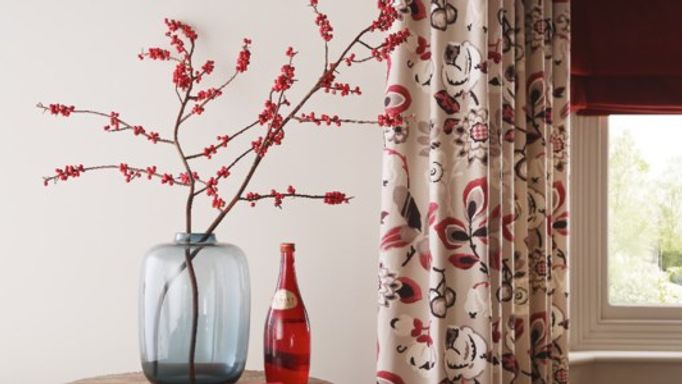 Ruby red blinds berry curtains
