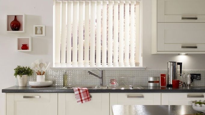 Kitchen Teflon Vertical blinds in kitchen