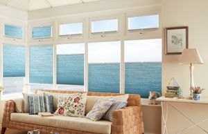 Best blinds for light control - Thermashade Bluebell Top Down Bottom Up Trilite Pleated Blinds in the Conservatory