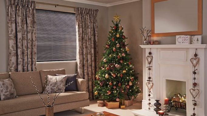 etienne mink curtains christmas living room