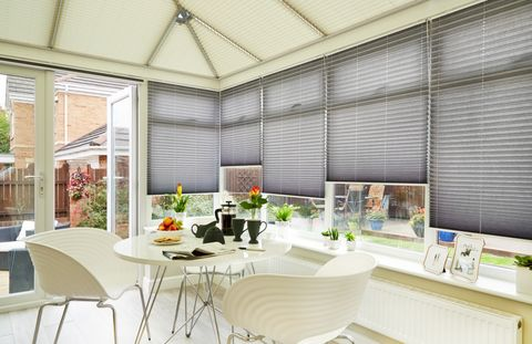 Crush-Charcoal-Pleated-blind-sides-with-Salerno-Sand-Pleated-blind-roof