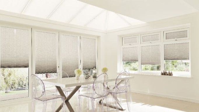 Moreno-Pewter-Pleated-side-blind-with-Grenoble-Taupe-Pleated-roof-blind