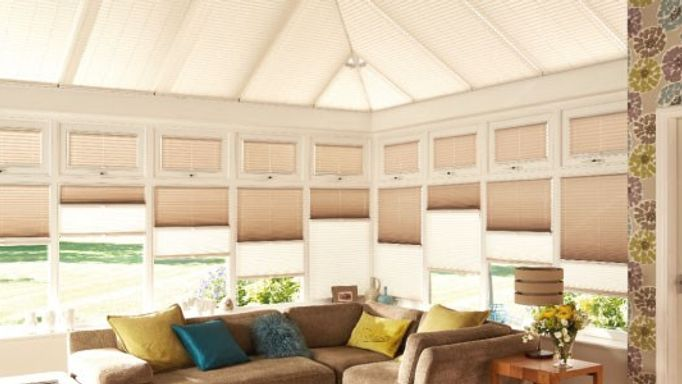 Day and Night Pleated blinds for conservatory windows