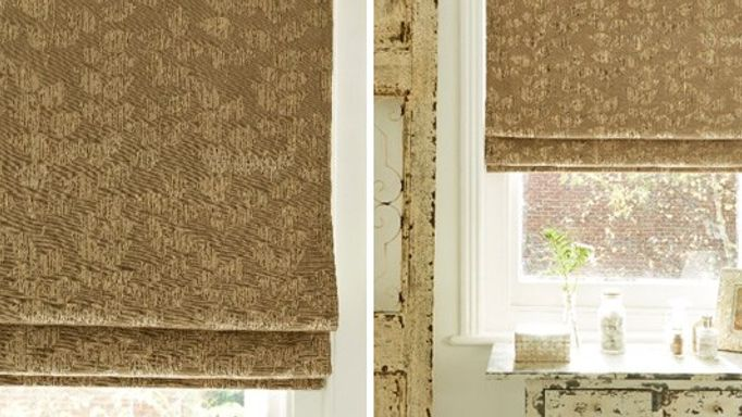 Roche Taupe Roman blind