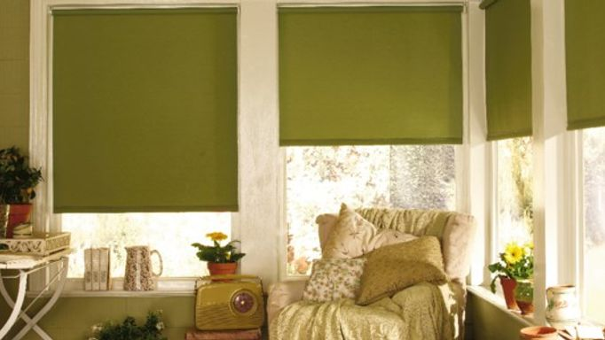Acacia Olive Green Roller Blinds