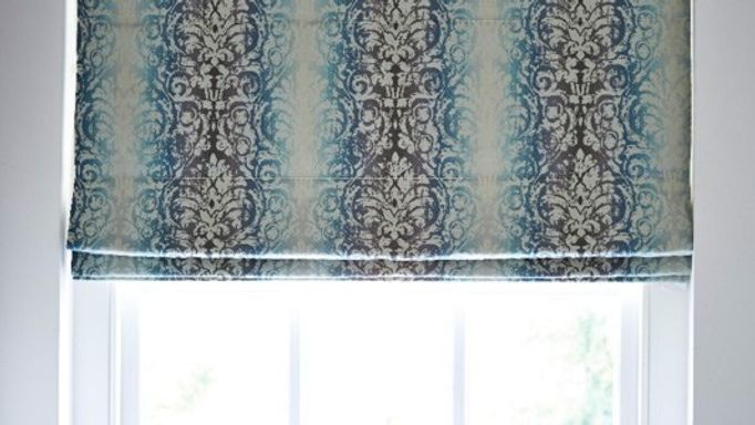 Baroque Ink Roman blind
