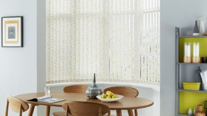 Edra Gold Vertical Blinds In Bay Window kitchen