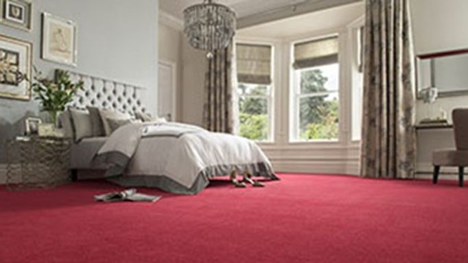 Red bedroom carpet