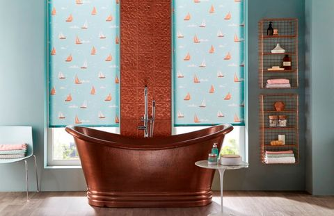 boats-teal-roller-blind-bathroom