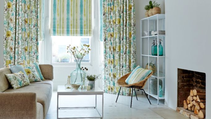 House-Beautiful-Origin-Citrine-curtain-with-Cascade-Citrine-roman-blind-living-room