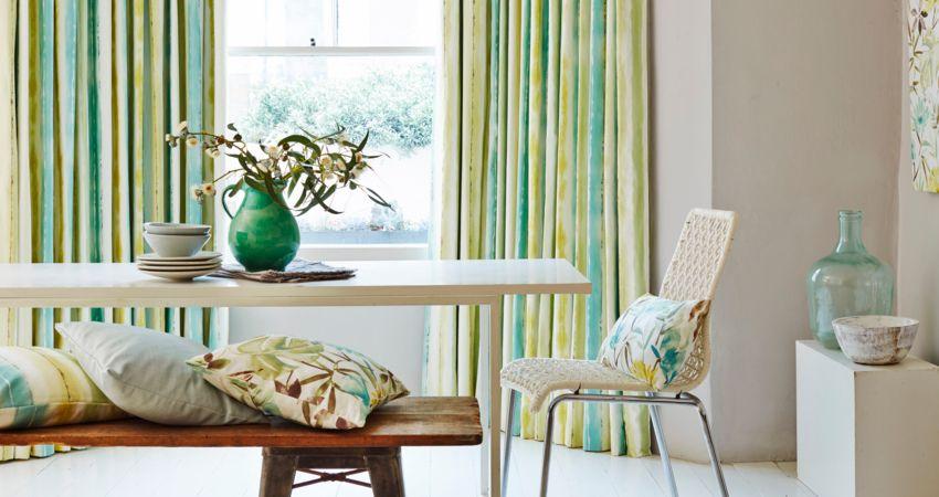 House Beautiful Cascade Citrine Curtain Dining Room