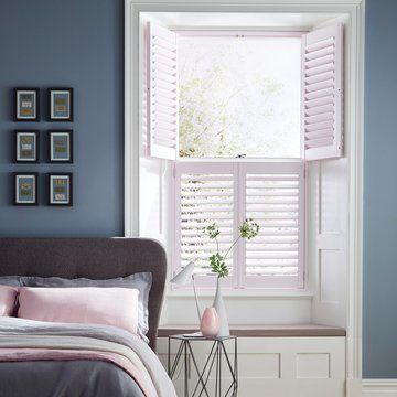Pink Tier on Tier shutter the bedroom