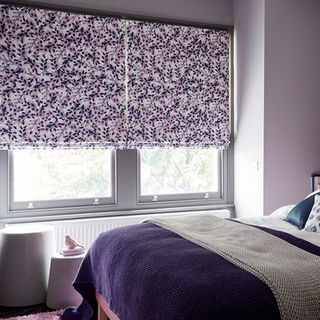 Roman Blind_Grapeflower Blush_Roomset