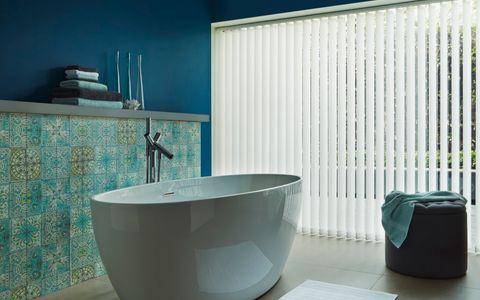 Bathroom vertical blinds