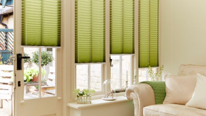 bali moss pleated blind - Blinds For Patio Doors