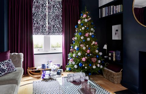Sorana-Violet-curtains-with-Radiance-Berry-curtains-Christmas