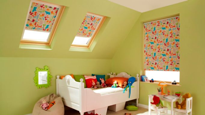 Animal-Orange-Roller-blinds