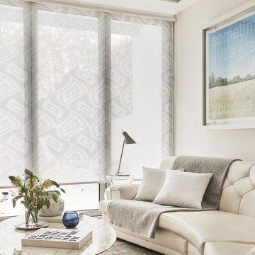 white living room roller blind-CLARITY-WHITE