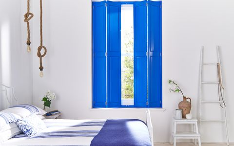 Will-Taylor-Greek-Dream-bedroom-with-coloured-shutters