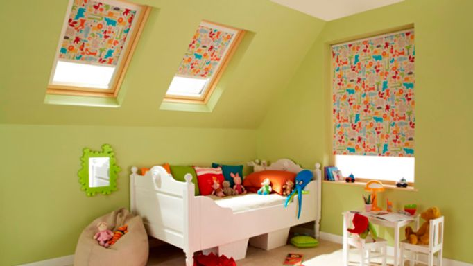 Animal-Orange-Roller-blind