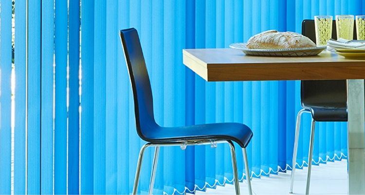 Vertical blinds - blueverticle-blue-kitchen-CORSICA-COLBALT