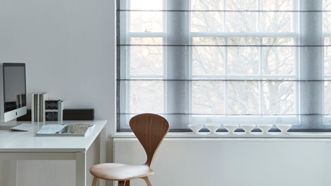 How To Style Voile Roman Blinds Hillarys