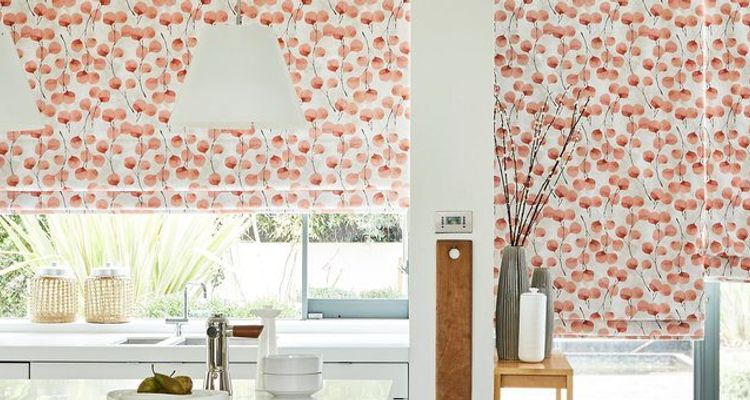 ROMAN BLINDS - ZEN-COLLECTION---HONESTY-PERSIMMON-CURTAINS