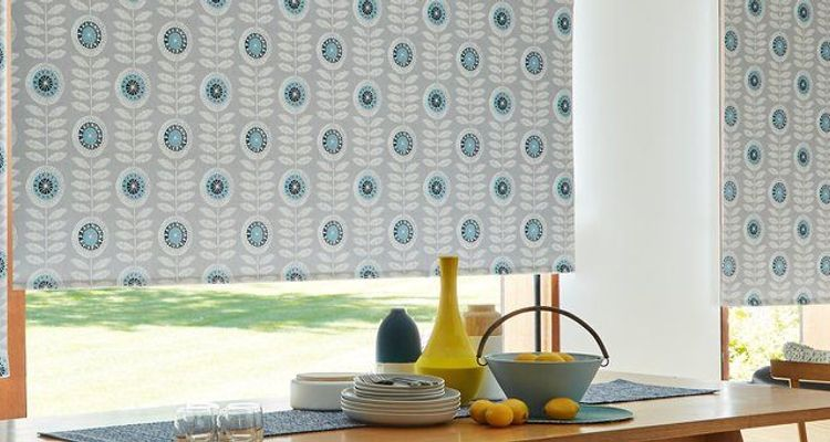 BLINDS RANGE - BLUE-ROLLER---DINING-ROOM---FOLK-ART-NEISHA-TEAL