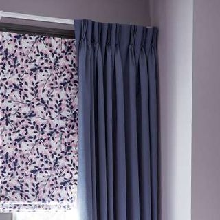 purple curtains - bedroom - blush iris