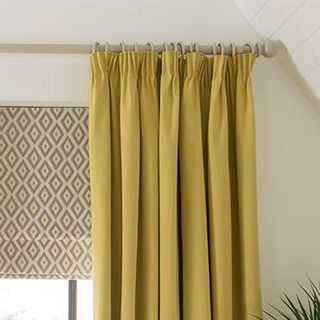 yellow curtains - office - tetbury mustard