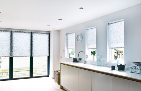 Painterley-Duck-Egg-Roller-blinds-in-kitchen