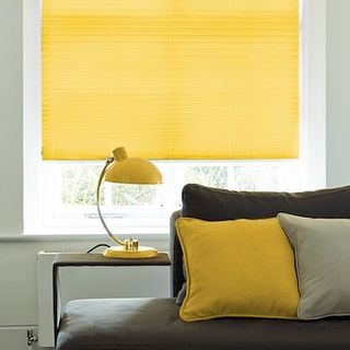 Pleated Blind_Salerno Citrus_Roomset
