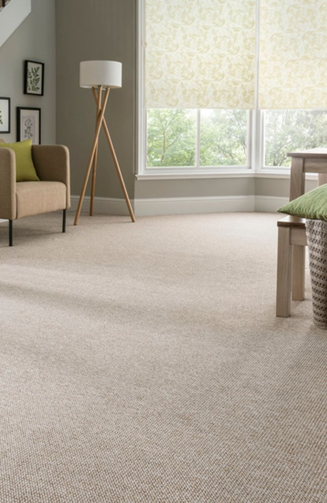 Sherwood-Berber-carpet-with-Hothouse-Green-Roller-blind