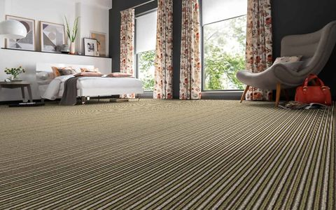 Green striped carpet - bedroom - Henley Paignton