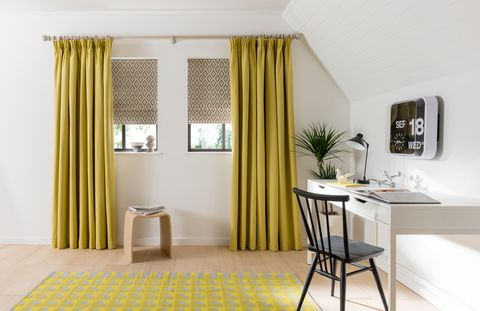tetbury-mustard-pencil-pleat curtains