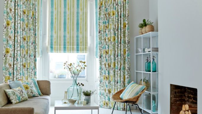 Origins-Citrine-curtains-with-Cascade-Citrine-Roman-blind