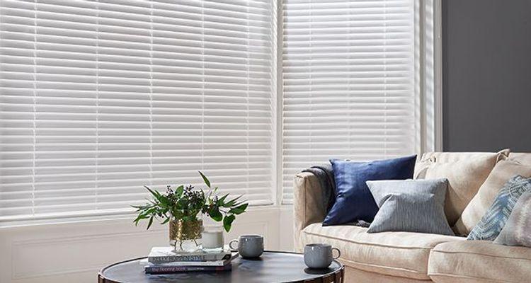 white wooden blinds 50 off sale now on hillarys. Black Bedroom Furniture Sets. Home Design Ideas