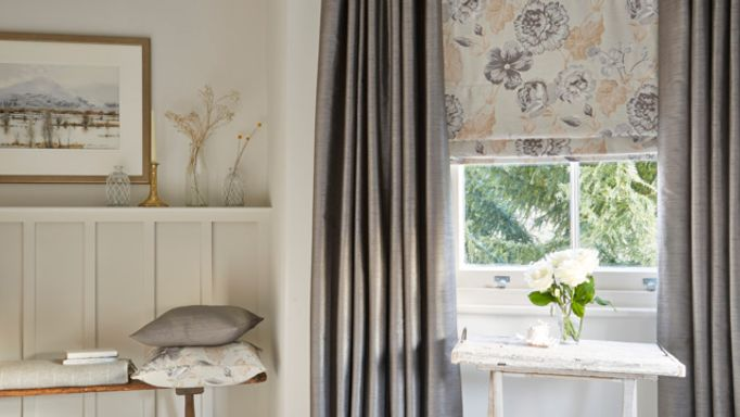Rosita-Charcoal-Roman-blind-with-Erika-Charcoal-curtains