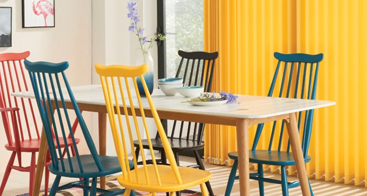 yellow vertical- yellow - dining room - Acacia yellow