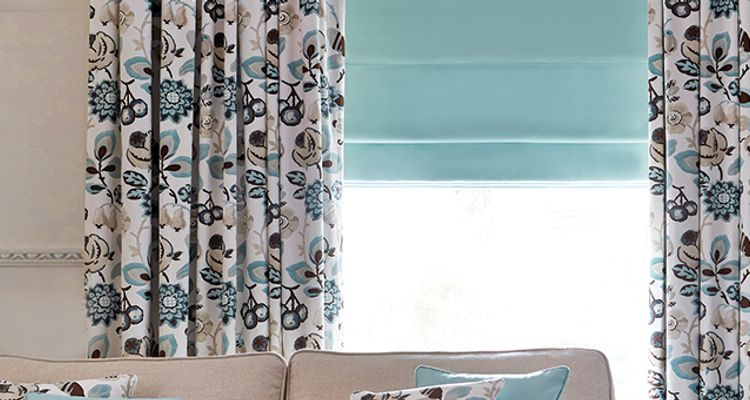 ROLLER Blue roller blind- blue - kitchen - Candra Dark Teal