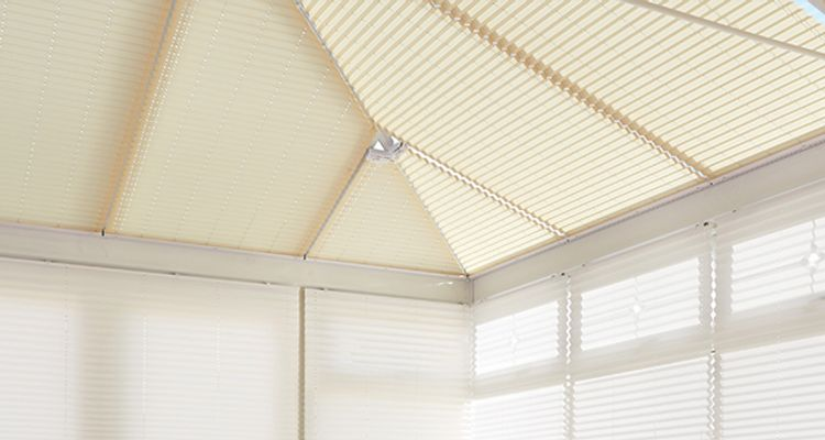 Conservatory roof blinds- cream white - conservatory - roof blinds