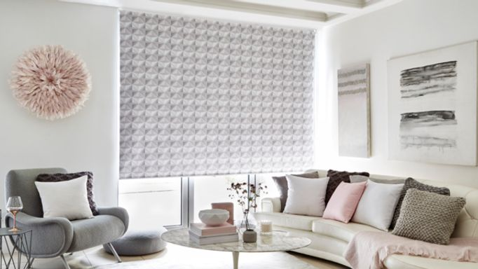 House Beautiful Optical Grey Roller blind